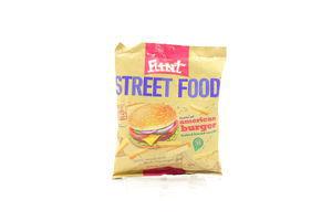 Сухарики со вкусом Американский бургер Street Food Flint м/у 80г