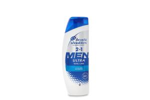 Шампунь та бальзам-ополіскувач для волосся проти лупи 2в1 Комплексний догляд Ultra Men Head&Shoulders 360мл