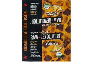 Raw Revolution Organic Live Food Bar Almond Butter Cup - 12 CT