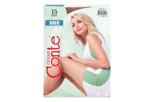 Колготки жіночі Conte Solo №17С-89СП 15den 2-S bronz