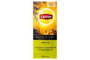 Чай Lipton Sultan Delight з ароматом меду яблука та інжиру 24 пакетиків