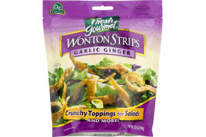 Fresh Gourmet Wonton Strips Garlic Ginger