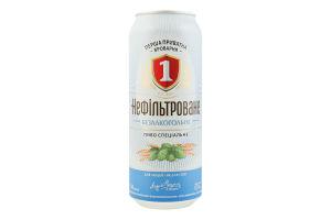 Пиво спеціальне 0.5л безалкогольне світле нефільтроване пастеризоване Перша приватна броварня з/б
