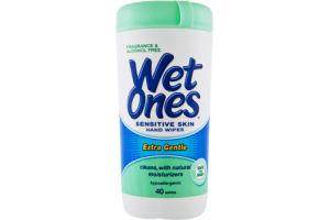 Wet Ones Fragrance Free Sensitive Skin Hand Wipes - 40 CT