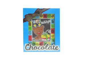 Шоколад Шоколадні чудеса Листівка Тедді з подарун. 100г х12