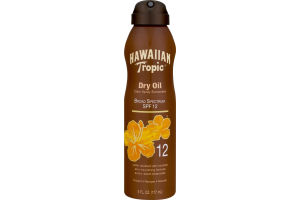 Hawaiian Tropic Dry Oil Clear Spray Sunscreen SPF 12