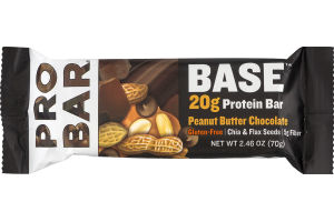 PROBAR Base 20g Protein Bar Peanut Butter Chocolate