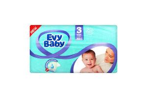 Подгузники детские 5-9кг 3 Midi Evy Baby 46шт