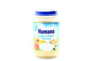 Пюре для детей от 7мес Йогурт с персиком и маракуйя Humana с/б 190г
