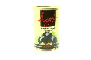 Маслины без косточки Angelo ж/б 390г