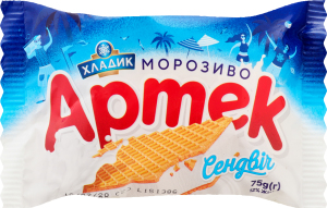 Морозиво 12% сендвіч Артек Хладик м/у 75г
