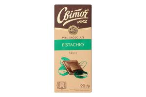 Шоколад молочный с начинкой Pistachio Світоч м/у 90г