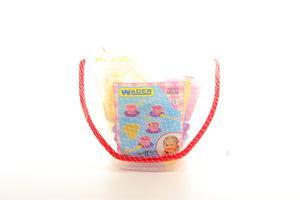 Іграшка пластикова Набір посуду у відрі 14 ел.Wader 22010
