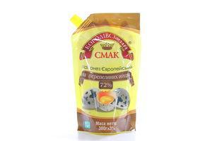 Майонез Королевский смак Европейский на перепелиных яйцах 72% д/п 380г