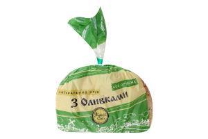 Хлеб нарезной без дрожжей С оливками Житня Сила м/у 0.3кг