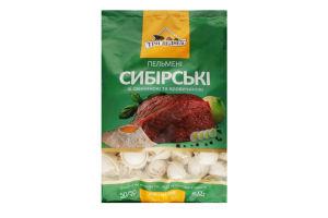 Пельмені зі свининою та яловичиною Сибірські Три ведмеді м/у 800г