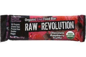 Raw Revolution Chocolate Raspberry Truffle Organic Live Food Bar