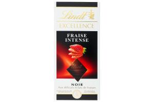 Шоколад темный Fraise Intense Excellence Lindt к/у 100г
