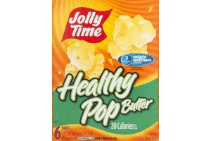 Jolly Time Healthy Pop Butter Microwave Pop Corn - 6 PK
