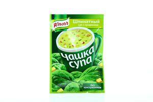 Суп быстрого приготовления шпинатный с сухариками Чашка супа Knorr м/у 15г