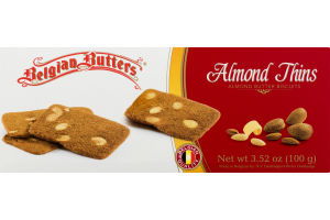Belgian Butters Almond Thins Almond Butter Biscuits