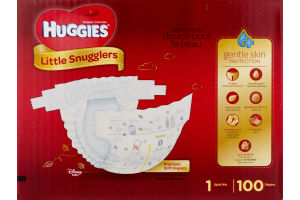 Huggies Little Snugglers Diapers Size 1 - 100 CT