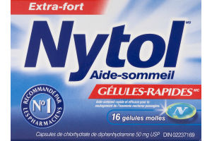 (CN) Nytol Aide-Sommeil Gelules-Rapides - 16 CT, Nytol Sleep Aid QuickGels - 16 CT