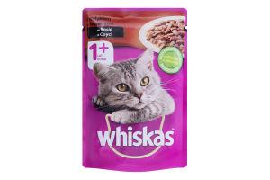 Корм для дорослих котів з індичкою в соусі Whiskas д/п 100г