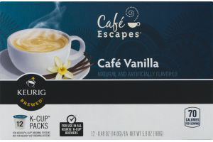 Cafe Escapes Cafe Vanilla K-Cup Packs - 12 PK