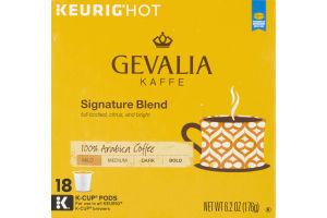 Gevalia Kaffe 100% Arabica Coffee Single Serve Cups Signature Blend Mild-Medium Roast - 18 CT