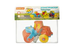 Конструктор-транспорт для детей от 3лет №77776 Дорожний каток Полесье 1шт