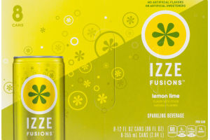Izze Fusions Sparkling Beverage Lemon Lime - 8 CT