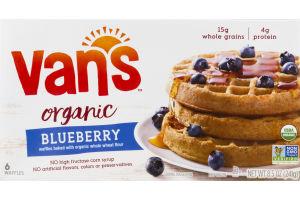 Van's Organic Waffles Blueberry - 6 CT