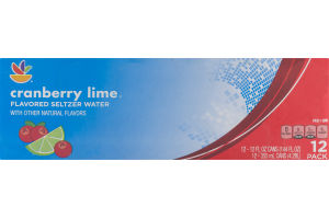 Ahold Flavored Seltzer Water Cranberry Lime - 12 CT