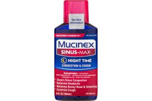 Mucinex Sinus-Max Night Time Congestion & Cough Maximum Strength Liquid