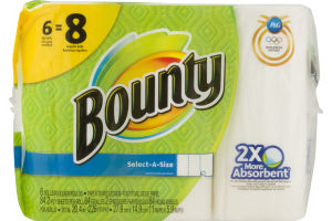 Bounty Paper Towels Select-A-Size - 6 CT