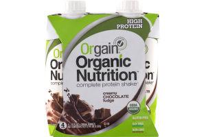 Orgain Organic Nutrition Complete Protein Shake Creamy Chocolate Fudge - 4 PK