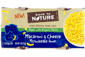 Back to Nature Macaroni & Cheese Microwaveable Dinner - 2 CT