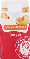 Йогурт 2% Персик-маракуя Радивилівмолоко т/п 430г