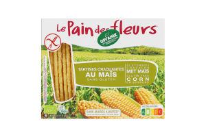 Хлібці органічні кукурудзяні безглютенові Le Pain des fleurs м/у 150г