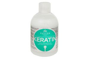 Шампунь для волос восстанавливающий KJMN Keratin Kallos 1000мл