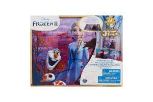 Пазл для дітей від 3років дерев'яний 3в1 №SM98297/6053001 Frozen II Spin Master 72ел
