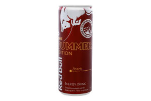 Напій енергетичний Персик Red Bull з/б 250мл