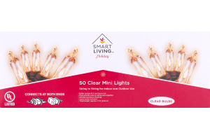 Smart Living Holiday 50 Clear Mini Lights