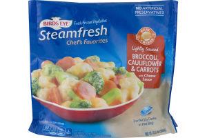 Birds Eye Steamfresh Chef's Favorites Broccoli Cauliflower & Carrots with Cheese Sauce Lightly Sauced