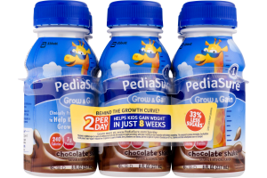 PediaSure Grow & Gain Chocolate Shake - 6 CT