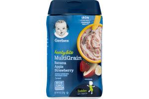 Gerber Hearty Bits Multigrain Cereal Banana Apple Strawberry Toddler