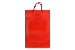 Пакет паперовий ламінований червоний 360х240х90 №177252 Середній вертикальний Южпромгруп 1шт