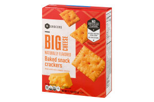 SE Grocers Big Cheese Naturally Flavored Baked Snack Crackers