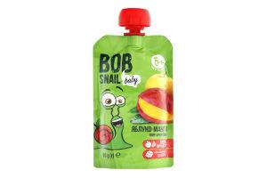 Пюре фруктове для дітей від 5міс Яблуко-манго Bob Snail д/п 90г